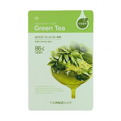 [菲诗小铺The Face Shop]鲜果物语面膜贴-綠茶