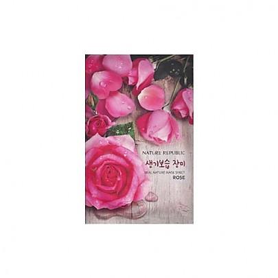 [自然乐园]真实自然萃取玫瑰面膜10片23ml*10