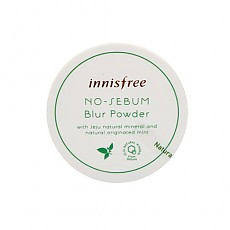 [innisfree] No Sebum Blur Powder with Jeju Natural Mineral and Natural Originated Mint