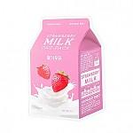 [A'PIEU 奥普]牛奶面膜#草莓牛奶
