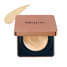 [MEMEBOX] PONY EFFECT Cover Stay Cushion Foundation SPF50+ PA+++ (Nude Beige)