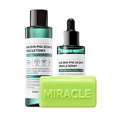 [SOME BY MI] 	AHA BHA PHA 30 Days Miracle Toner + Serum + Cleansing Bar