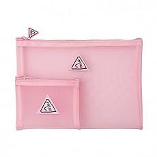 [3CE] Pink Rumour 粉红色的网纱袋