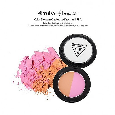 [3CE] 双色腮红 Make Me Blush Miss Flower (Color Blossom Created by Peach and Pink) 10g
