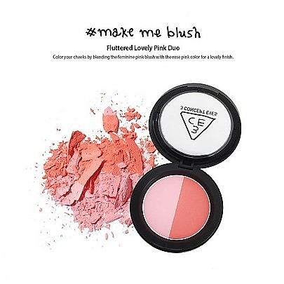 [3CE] 双色腮红 Make Me Blush (Fluttered Lovely Pink Duo) 10g