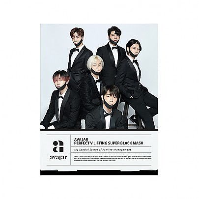 [Avajar] Perfect V 提拉紧致高级黑色面膜 (Super Junior Edition) 1片